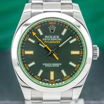 Rolex Milgauss Steel 40mm Arabic numerals
