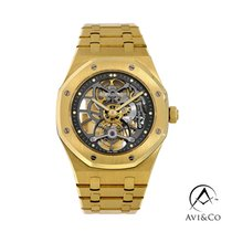 Audemars Piguet Royal Oak Tourbillon Or jaune 41mm Transparent Sans chiffres