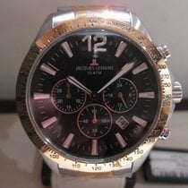 Jacques Lemans Steel 44mm Quartz 1-1751 G new