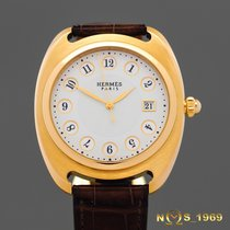 Hermès Dressage Yellow gold 40 mm case without crownmm Mother of pearl Arabic numerals