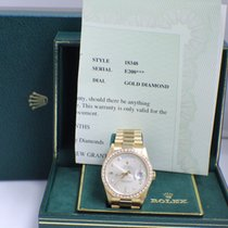 Rolex 18348 President 18K Yellow Gold Diamond Dial & Bezel