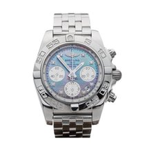 Breitling Chronomat Mother of Pearl/Diamonds Stainless Steel...