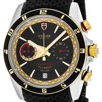 Tudor Grantour Chrono Fly-Back new Automatic Watch with original box 20551N-LTHR/BLK IND