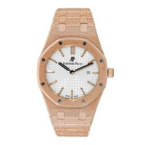 Audemars Piguet Ladies Royal Oak 33mm Frosted Rose Gold...