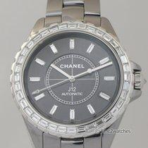 Chanel Or blanc Remontage automatique Noir 41mm nouveau J12
