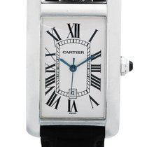 Cartier | A White Gold Rectangular Automatic Center Seconds...