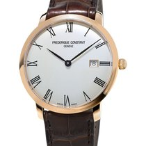 Frederique Constant Red gold Automatic Silver Roman numerals 40mm new Slimline Automatic