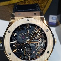 Hublot Classic Fusion Ultra-Thin Or rose 45mm Transparent Sans chiffres