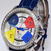 Jacob & Co. . Five Time Zone Stainless Steel & Diamond 47mm...