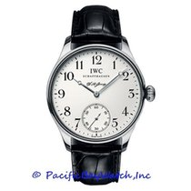 IWC Platinum Manual winding Silver Arabic numerals 43mm pre-owned Portuguese Hand-Wound