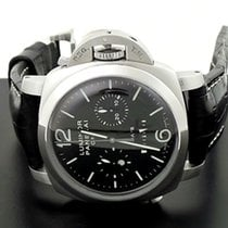 Panerai Luminor 1950 8 Days Chrono Monopulsante GMT Steel 44mm Black Arabic numerals