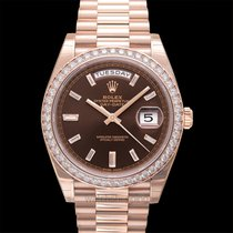 Rolex Day-Date 40 Or rose 40.00mm Brun