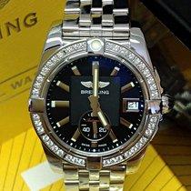 Breitling Galactic 36 Staal 36mm Zwart Geen cijfers