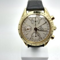 Omega Speedmaster Day Date Yellow gold 39mm White No numerals