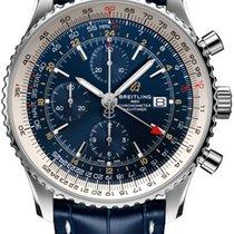 Breitling Navitimer GMT Сталь 46mm Синий
