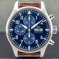 IWC Pilot Chronograph Steel 43mm Blue Arabic numerals United States of America, Massachusetts, Boston