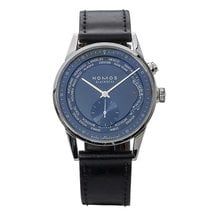 NOMOS Zürich pre-owned 39.9mm Blue GMT Leather