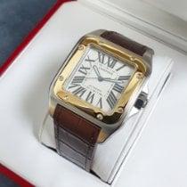 Cartier Santos 100 подержанные 38mm Белый Кожа