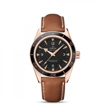 Omega Rose gold Automatic Black 41mm new Seamaster 300