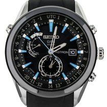 Seiko Astron GPS Solar pre-owned 46mm Black Date Rubber
