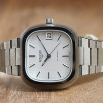 Longines Ultronic Steel 37mm Silver No numerals