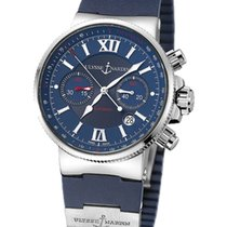 Ulysse Nardin pre-owned Automatic 41mm Blue Sapphire crystal 20 ATM