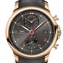 IWC Portugieser Yacht Club Chronograph Roségold 43mm Schwarz