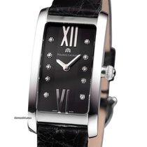Maurice Lacroix Fiaba Diamonds Diamanten Damenuhr Black Silver...