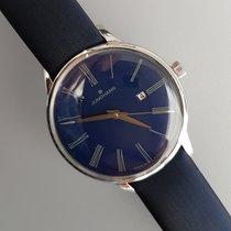 Junghans Meister Damen Acier 30,5mm Bleu Romains