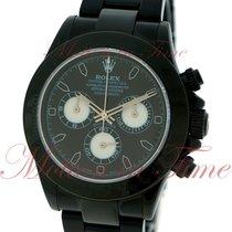 Rolex Cosmograph Daytona, Black Dial - Black PVD on Bracelet