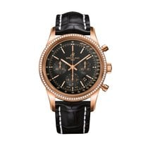 Breitling Transocean Chronograph Red gold 43mm Black