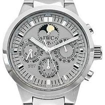 IWC Steel Automatic Silver No numerals 43mm pre-owned GST