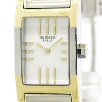 Hermès Tandem Mop Dial Gold Plated Steel Quartz Watch Ta1.220...