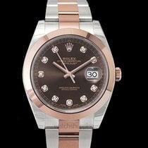 Rolex Rose gold Automatic Brown 41mm new Datejust