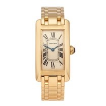 Cartier Tank Américaine pre-owned 19mm Yellow gold