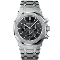 Audemars Piguet Royal Oak Chronograph pre-owned 41mm Black Chronograph Date Steel