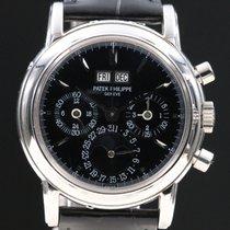 Patek Philippe Perpetual Calendar Chronograph 3970 Rare Black...