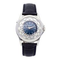 Patek Philippe World Time Platinum 39.5mm Silver Arabic numerals