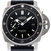 Panerai Luminor Submersible 1950 3 Days Automatic pre-owned 47mm Black Date Leather