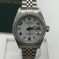 Rolex Oyster Perpetual Lady Date Acier 26mm Blanc France, paris