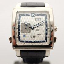 Ulysse Nardin Quadrato Dual Time Perpetual White gold 42mm Silver Arabic numerals