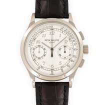 Patek Philippe Chronograph White gold 39.5mm Silver United States of America, California, Beverly Hills