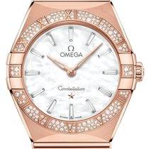 Omega Constellation Quartz Roségoud 28mm Wit