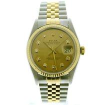 Rolex Datejust 16013 Velmi dobré Zlato/Ocel 36mm Automatika