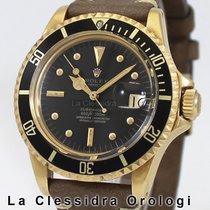 Rolex Submariner Date Zuto zlato 40mm Crn Bez brojeva