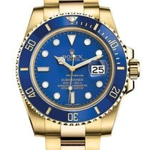 Rolex Submariner Date Yellow gold 40mm Blue No numerals United States of America, New Jersey, Woodbridge