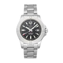Breitling Chronomat Colt Steel 41mm Black No numerals