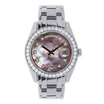 Rolex Lady-Datejust Pearlmaster usados 29mm Madreperla Fecha Oro blanco