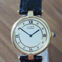Cartier Must Vermeil VLC Ronde großes Modell revisioniert