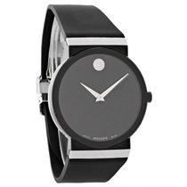 Movado Sapphire Synerg Mens Black Rubber Swiss Quartz Watch...
